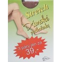 Dámské podkolenky Stretch 3 páry velikost 23-27 hnědá