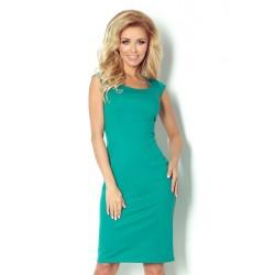 Dámské elegantní společenské šaty bez rukávu SF 53-13 zelené