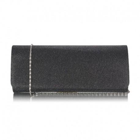 Dámské psaníčko s řetízkem černé, Barva Černá L&S Fashion LSE247