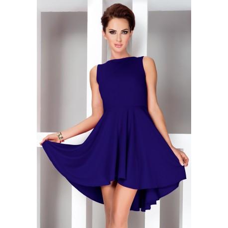 Dámské asymetrické šaty Lacosta - Exclusive modré, Velikost L, Barva Modrá SAF 33-5