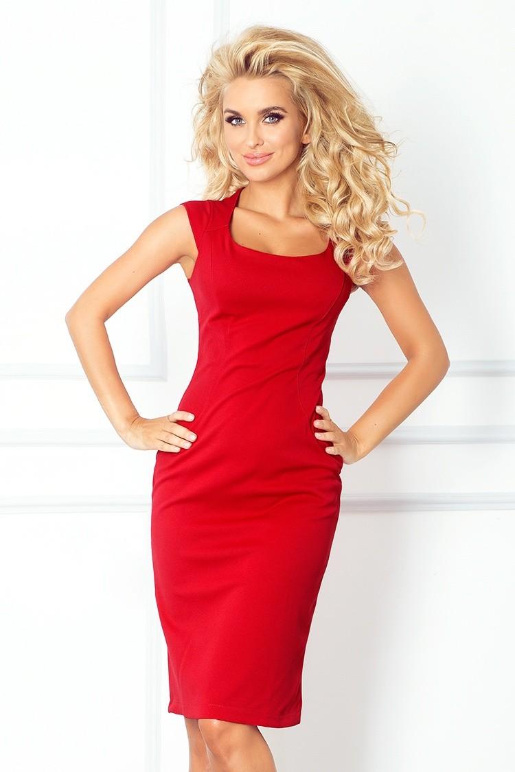 478b5e82b37 Dámské elegantní společenské šaty bez rukávu červené