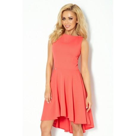Luxusní dámské společenské a plesové šaty korálové