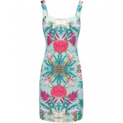 Dámské vzorované šaty na ramínka FLOWER