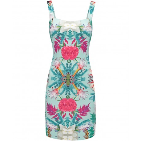 Dámské vzorované šaty na ramínka FLOWER, Velikost L, Barva Barevná, Vzor Květinový Joe Browns