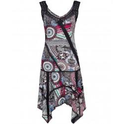 Luxusní dámské letní vzorované šaty s krajkou