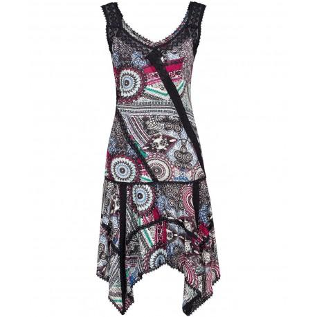 a905916ab15 Luxusní dámské letní vzorované šaty s krajkou - Alltex-fashion.cz