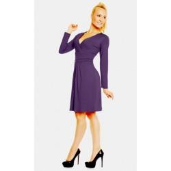 Dámské šaty s dlouhým rukávem Nikola lilkové