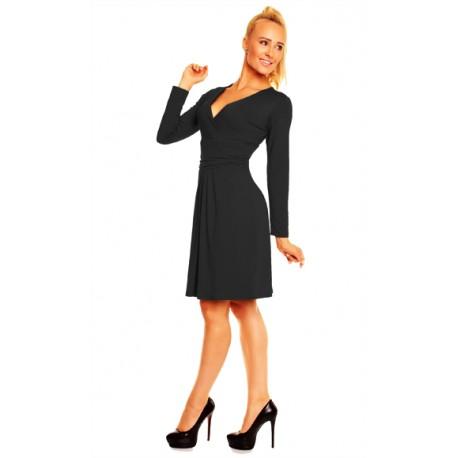 Dámské společenské šaty s dlouhým rukáve Nikola černé