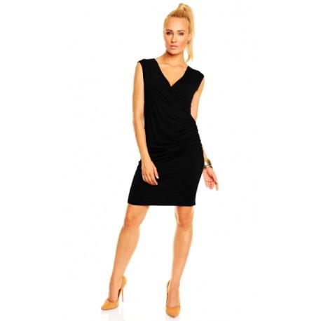 Dámské společenské šaty Adela bez rukávu černé, Velikost M, Barva Černá Lental