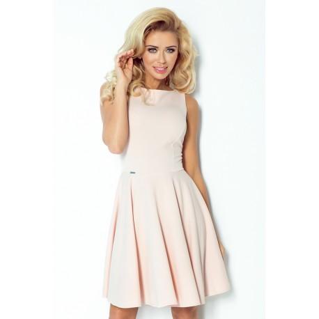 Dámské elegantní šaty pudrové, Velikost M, Barva Pudrová NMC 98-3