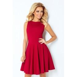 Dámské elegantní šaty bez rukávu vínové
