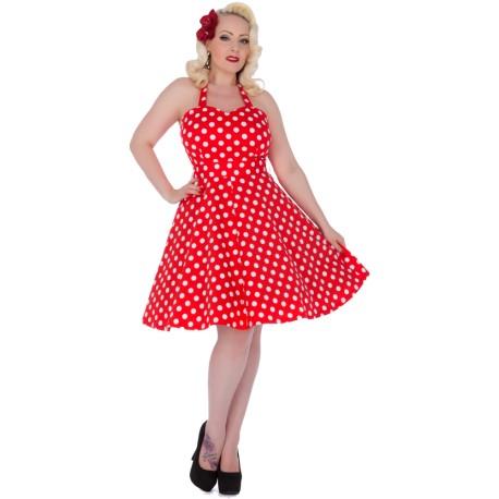 Dámské retro šaty Dolly and Dotty Marilyn červené, Velikost 40, Barva Červená Dolly and Dotty S793