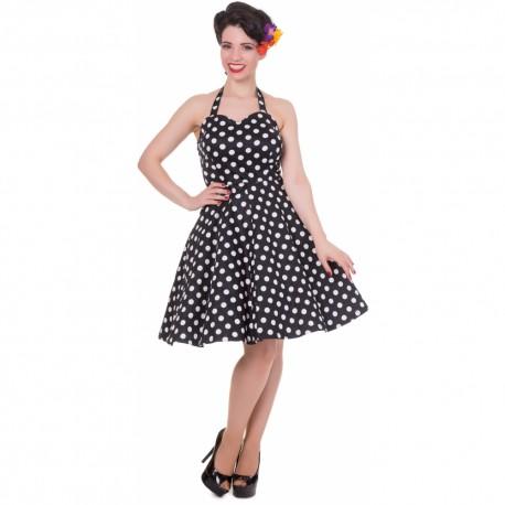 Dámské retro šaty Dolly and Dotty Marilyn černé, Velikost 44, Barva Černá Dolly and Dotty S793