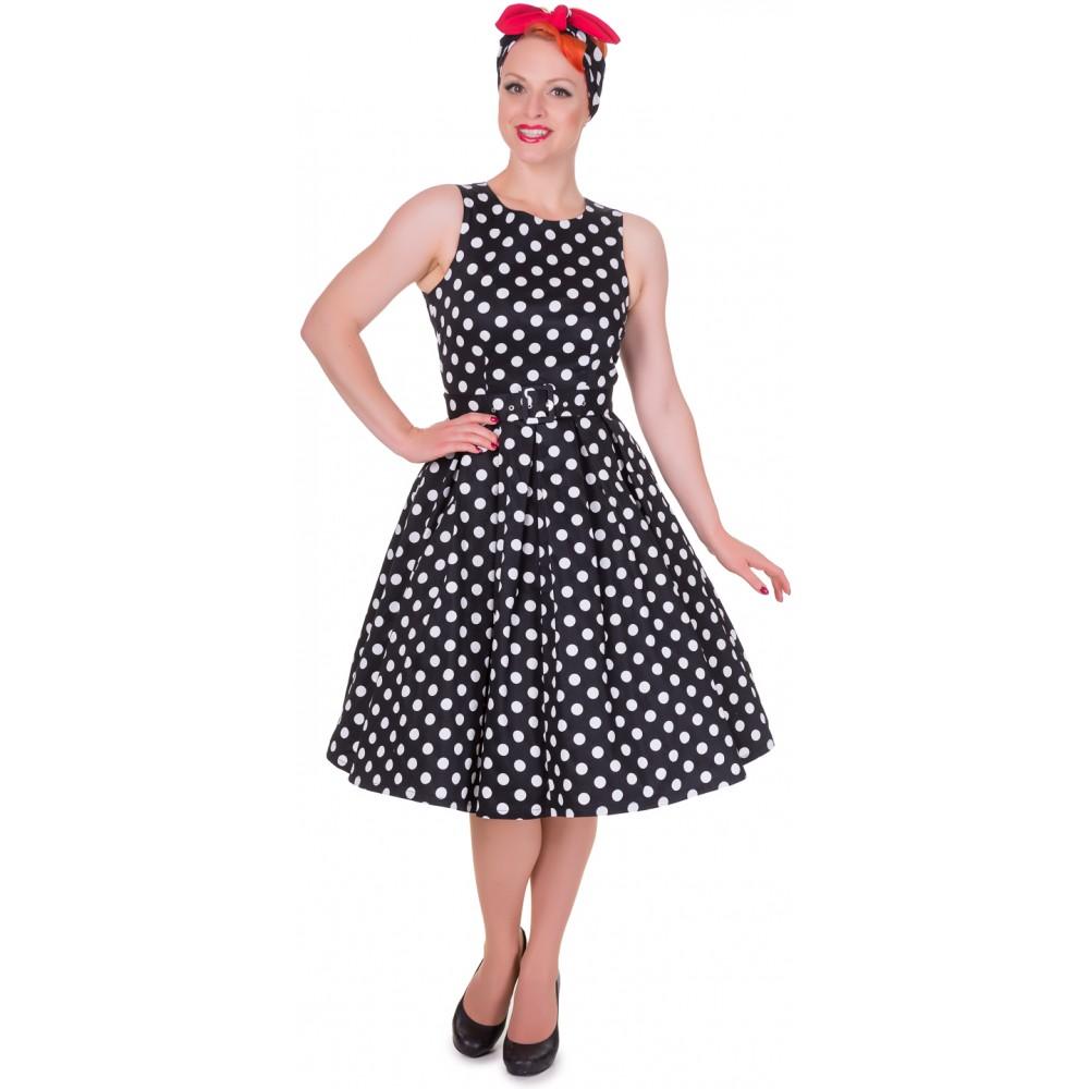 Dámské retro šaty Dolly and Dotty Annie černé s bílou - Alltex-fashion.cz 550c4f7c830