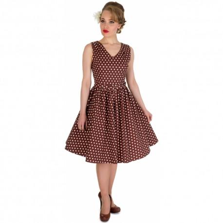 Dámské retro šaty Dolly and Dotty Wendy petrolejové s bílou