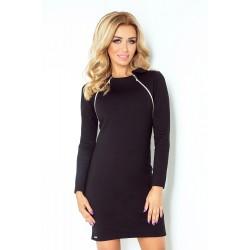 Dámské šaty s dlouhým rukávem černé 130-3