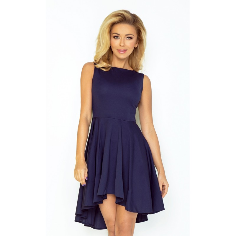 Dámské asymetrické šaty Lacosta - Exclusive tmavě modré, Velikost M, Barva Tmavě modrá