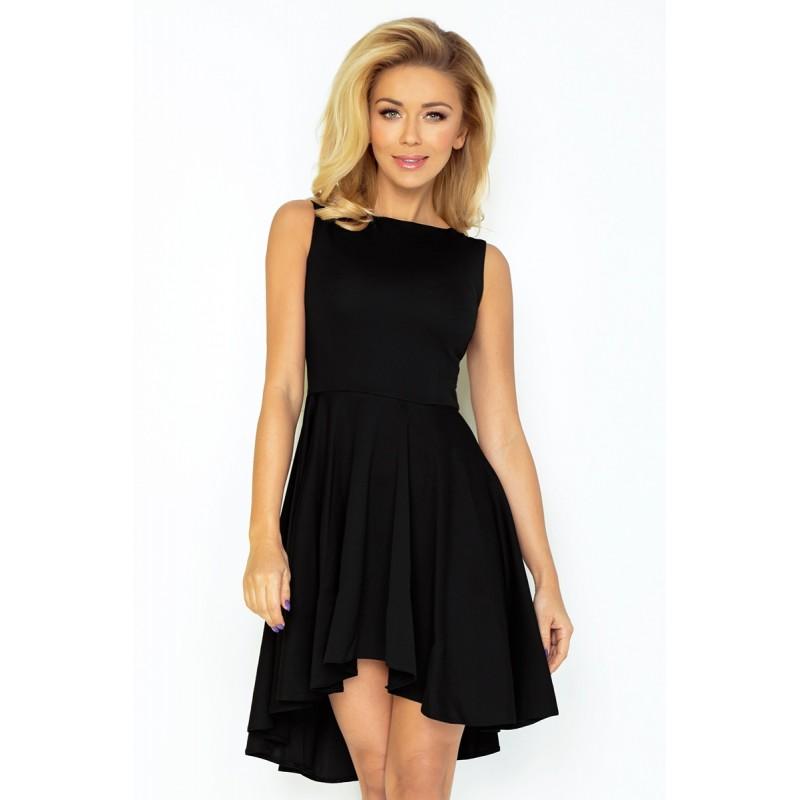 Dámské asymetrické šaty Lacosta - Exclusive bez rukávu černé, Velikost M, Barva Černá