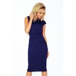 Elegantní šaty bez rukávu Tina modré 1441