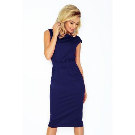 Elegantní šaty bez rukávu Tina modré 1442