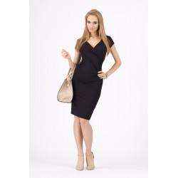 Dámské společenské šaty s krátkým rukávem černé