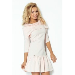 Dámské šaty Mary s límcem světle růžové 1081