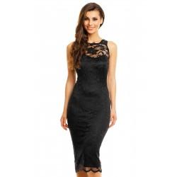 Dámské šaty Paris s krajkou černé
