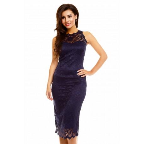 Dámské šaty Paris s krajkou tmavě modré