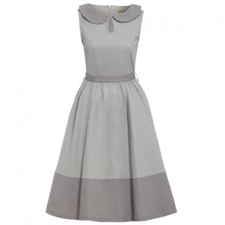 Dámské retro šaty Lindy Bop BEATTIE šedé