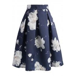 Sukně Chicwish Jasmine tmavě modrá