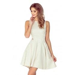 Dámské elegantní šaty WHEELS bez rukávu béžové