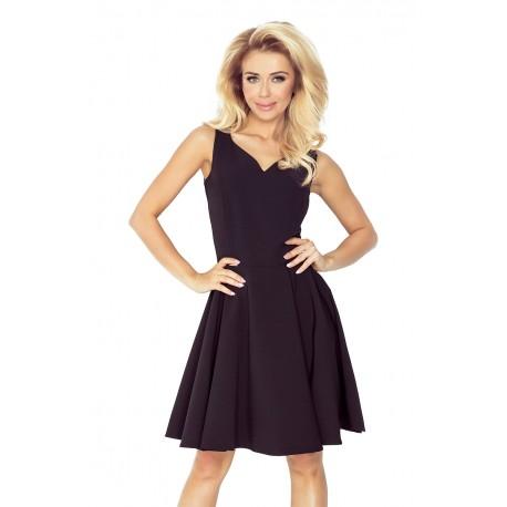 Dámské elegantní společenské a plesové šaty černé, Velikost XL, Barva Černá NUMOCO 114-9