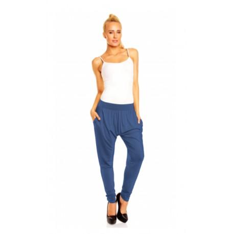 Harémové kalhoty Megan petrolejové, Velikost L/XL, Barva Petrolejová Lental