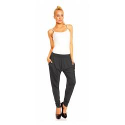 Harémové kalhoty Megan tmavě šedé