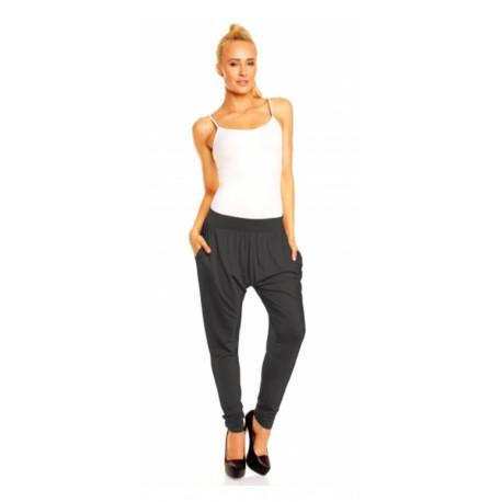 Harémové kalhoty Megan tmavě šedé, Velikost L/XL, Barva Tmavě šedá Lental