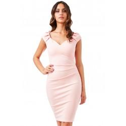 Dámské šaty CityGoddess Luisa meruňkové