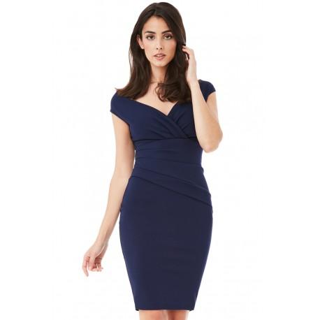 Dámské šaty CityGoddess Amy tmavě modré, Velikost 36, Barva Tmavě modrá CityGoddess DR1092AB