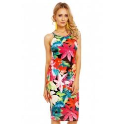 Dámské šaty Rebecca s květy