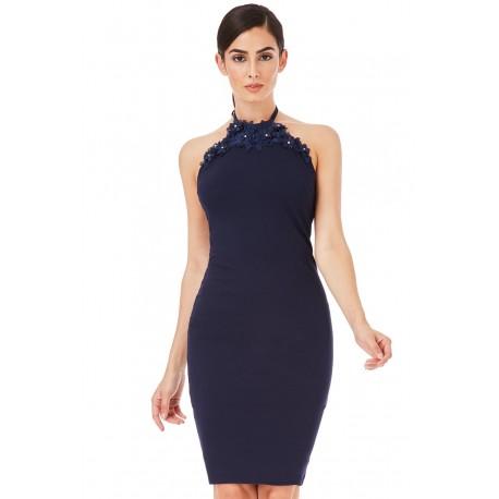 Dámské šaty bez rukávu Claire tmavě modré