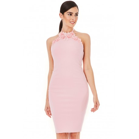 Dámské šaty bez rukávu Claire světle růžové, Velikost 38, Barva Světle růžová CityGoddess DR1089A