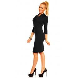 Dámské společenské šaty Monika s 3/4 rukávem černé