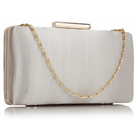 Dámské elegantní psaníčko stříbrné, Barva Stříbrná L&S Fashion LSE314