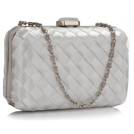 Dámské krásné psaníčko stříbrné, Barva Stříbrná L&S Fashion LSE0090
