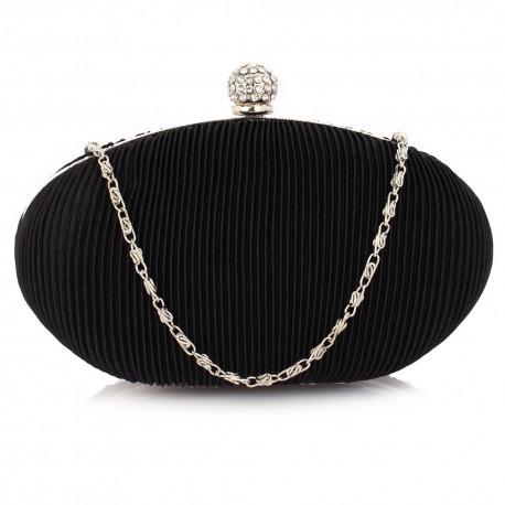 Dámské elegantní psaníčko černé 090, Barva Černá L&S Fashion LSE0090