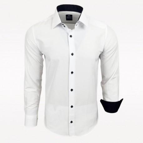 Pánská košile Slim Fit s dlouhým rukávem Rusty Neal bílá