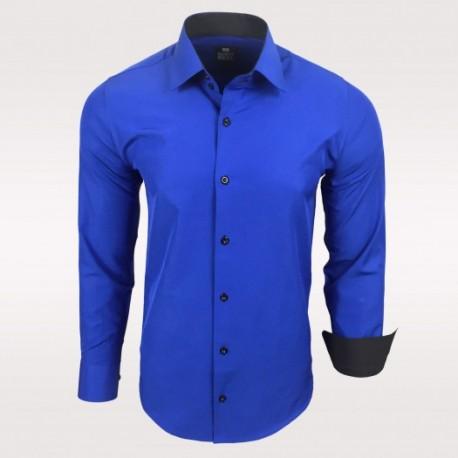 Pánská košile Slim Fit s dlouhým rukávem Rusty Neal modrá - Alltex ... fa697774fd