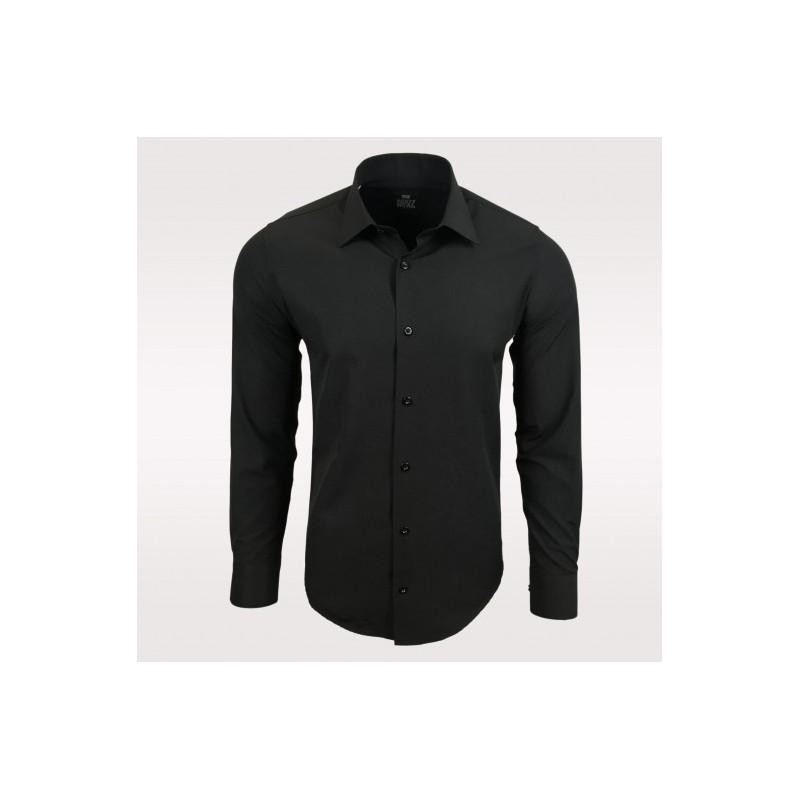 Pánská košile s dlouhým rukávem Rusty Neal černá - Alltex-fashion.cz e1d878566d