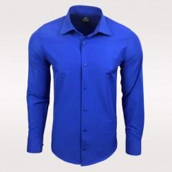 Pánská košile s dlouhým rukávem Rusty Neal tmavší modrá