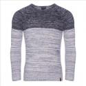 Pánský melírovaný svetr v dvojbarevném provedení