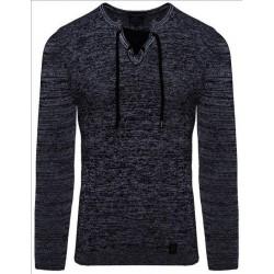 Pánský svetr na tělo s žíhaným vzorem
